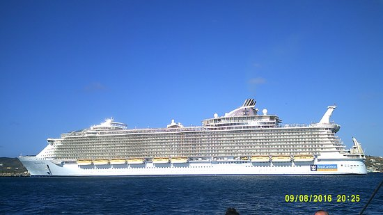 Allure of the Seas: Allure in St. Kitts (ignore date, water camera wasn't working correctly