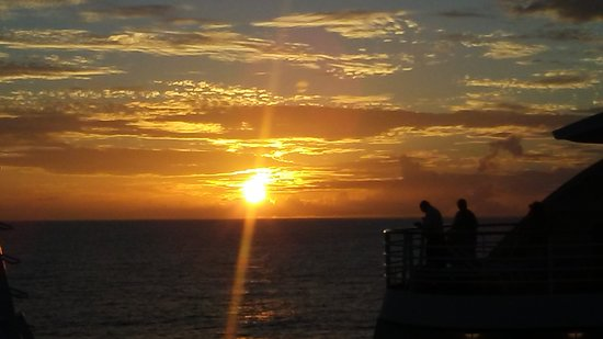 Emerald Princess: Sunset from our balcony