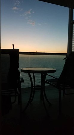 Liberty of the Seas: The view from my pillow in the morning!