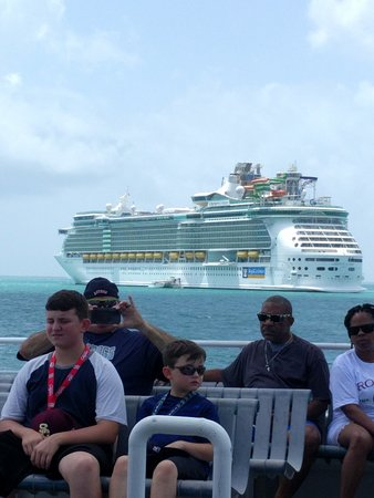 Liberty of the Seas: A photo from the boat to Belize.
