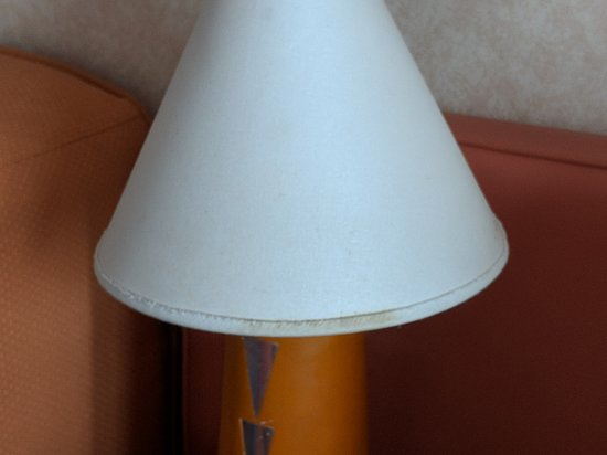 Carnival Splendor: An example of the staining on the lamps, off the bottom rim there.  A nice