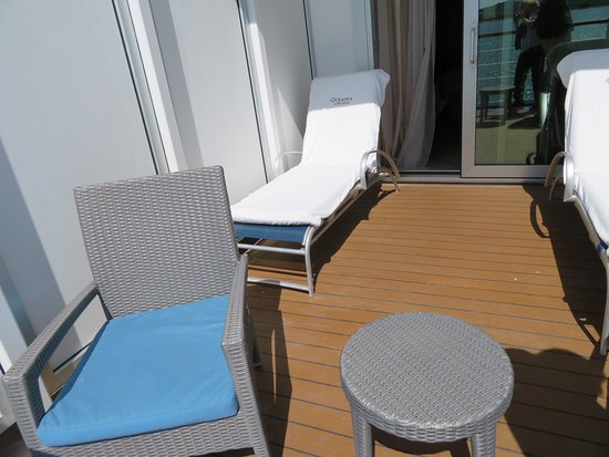 Marina: Extended balcony allows for 2 lounges, 2 chairs and a table