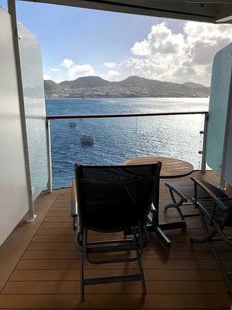 """Celebrity Equinox: Our beautiful and spacious """"hump"""" balcony 1243"""