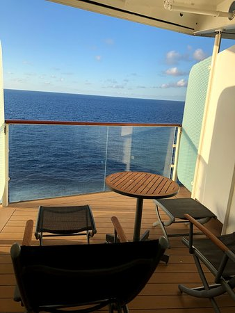 Celebrity Equinox: Another photo of our hump balcony C2 - 1243