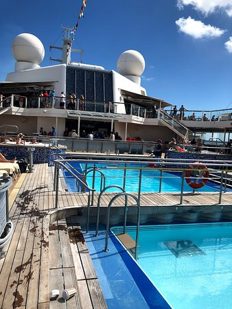 Celebrity Equinox: We always were able to find chairs on the pool deck - would take some patie