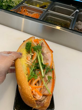 Le's Sub: Traditional Banh Mi Thit ( Pork belly, Pate livers)