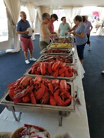 American Star: Lobster bake on last day.
