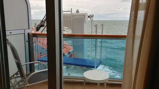 Looking left from E403, Emerald deck, Royal Princess