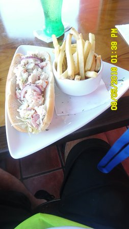 Norwegian Gem: Sharkeez Lobster Roll - in my all time top 3 and their Coconut Shrimp also,