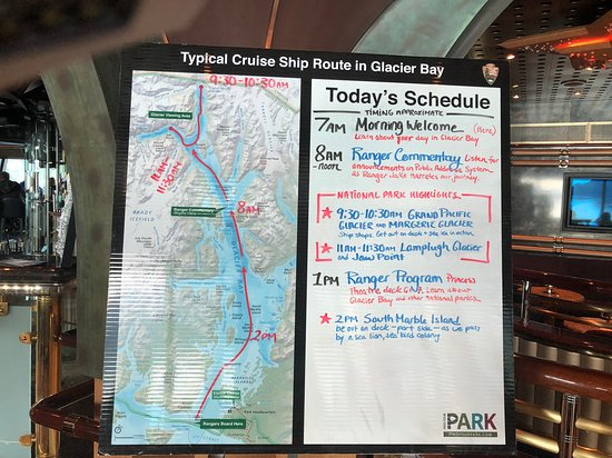 Ruby Princess: Rangers posted this useful map and schedule