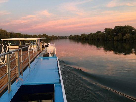 AmaLyra: Sunset from the sundeck.....