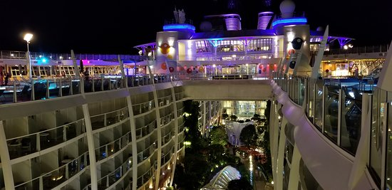 Oasis of the Seas: Interior of ship is open and beautifully designed.