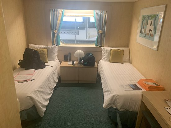MSC Armonia: Size of cabin from door. My lovely $1500 ocean view, amazing right!!