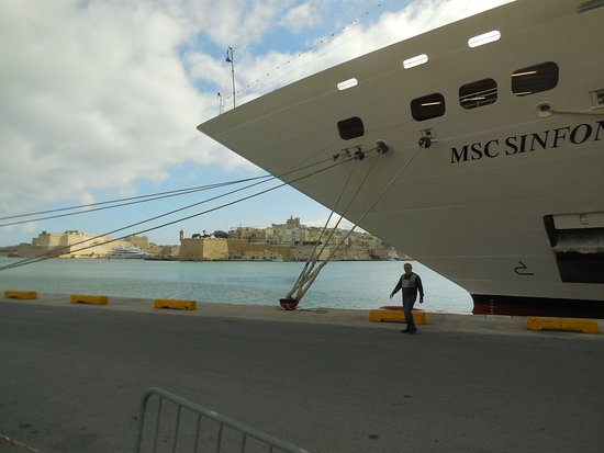 MSC Sinfonia: Docked in Sicily.