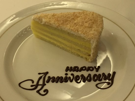 Seabourn Odyssey: Anniversary coconut cake (delicious)