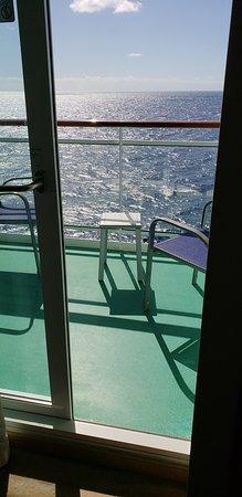 Norwegian Epic: Balcony view.