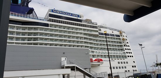 Norwegian Epic: The Epic one of the largest ship on the  seas.