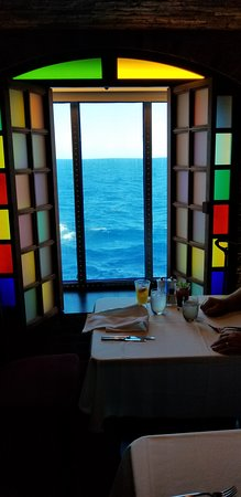 Norwegian Epic: Our view from our table at Taste