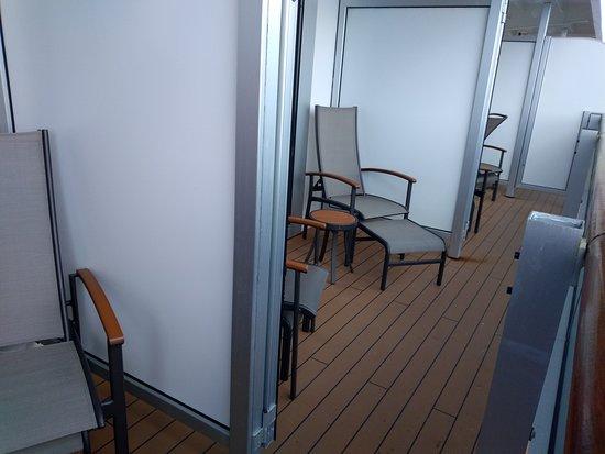 Nieuw Amsterdam: Cabin 4155, 4151, 4149 balconies opened up
