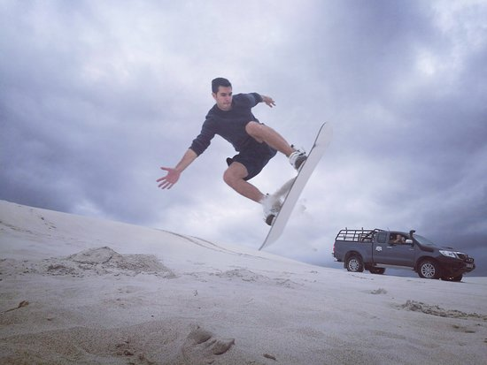 Sandboarding Cape Town: hangtime