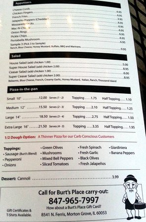 pizzas & appetizers page