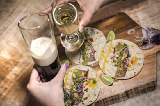 Looking for happy hour? The beef tacos are light and fresh, simple set up highlighting the quality of each ingredient allowing you to enjoy each bite better than the last.