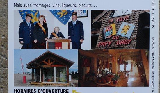 Gilley, ฝรั่งเศส: Le flyer du tuyé du papy Gaby