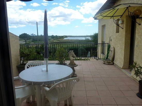 Le Sambuc, Francia: Terrasse privée d'une chambre au premier étage