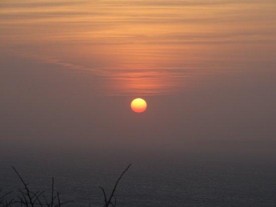 Jobourg, Francúzsko: coucher de soleil depuis notre table