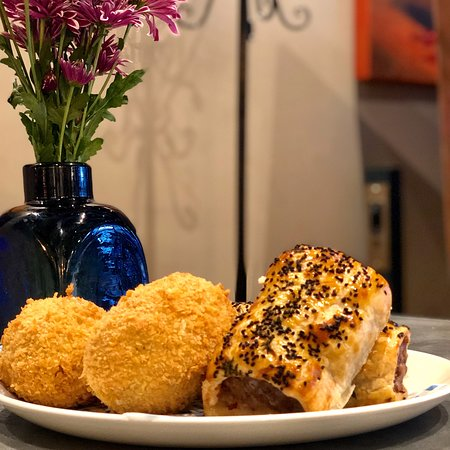 Our wild boar sausage rolls and scotch eggs are beyond your wildest dreams.