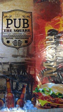 The Square Pub: Menu
