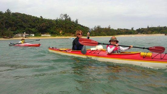 Kunigami-gun, Giappone: Family fun kayaking