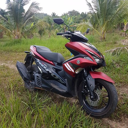 Great on the road and off, the Yamaha Aerox is a great all around choice for riding in Krabi