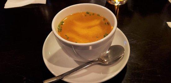 sopa de pollo, Miro Spanish Grille, Charlotte, NC, March 2019