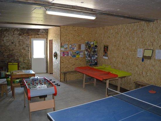Le Jardin de Chalets: La salle de jeux : table de ping-pong, baby-foot, jeux en bois...