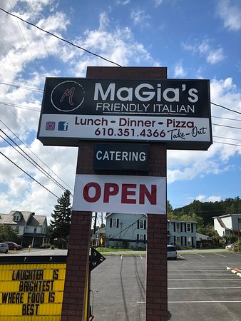 MaGia's Friendly Italian.  Have you tried our Mozz Sticks?