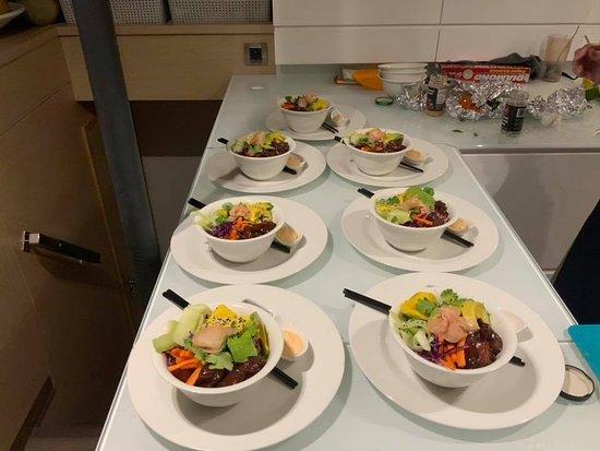 Bahamas: Enjoy delicious cuisine aboard bit.ly/CatamaranNenne