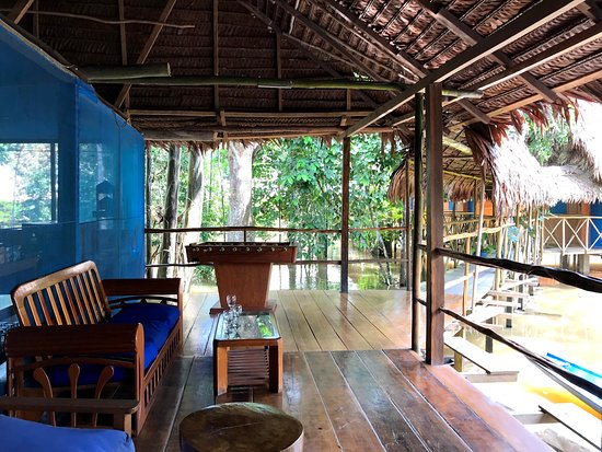 Iquitos Amazon Region, Peru: Muyuna Amazon Lodge main lodge area