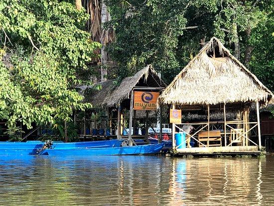 Iquitos Amazon Region, Peru: Entrance to Muyuna Amazon Lodge