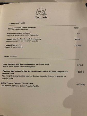 Casa Urola:  menu IV