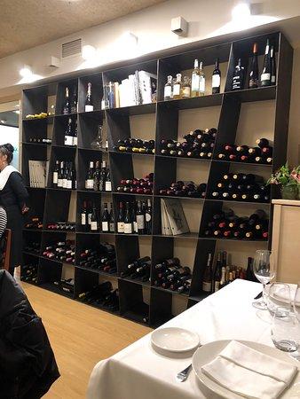 Casa Urola:  The wine wall