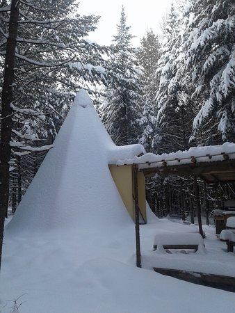 Cantons-de-l'Est, Canada: Tipi en hiver
