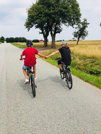 Cycling around Red Bird Farm