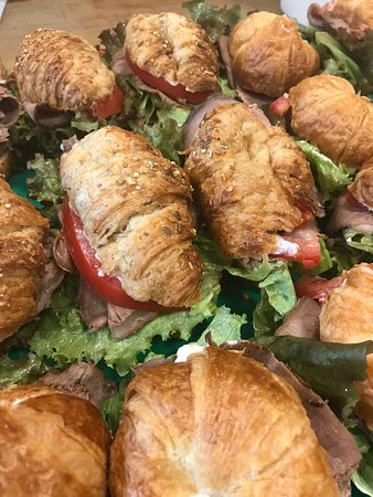 Mini Croissants with Lobster, Crab or egg salad!