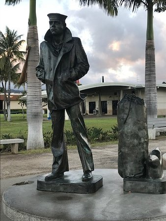 Statue near the visitor center at Pearl Harbor