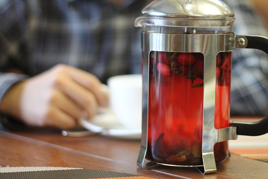 Restaurant Ochen Vkusno: Фруктовый чай с десертом