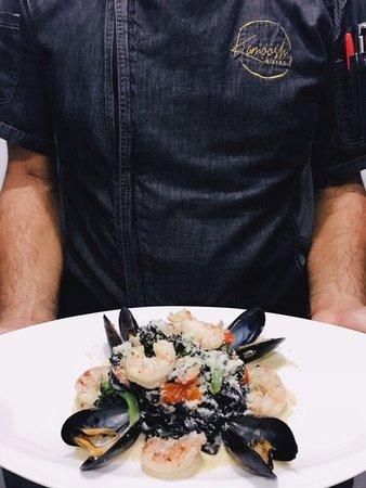 Sea food Pernod pasta feature