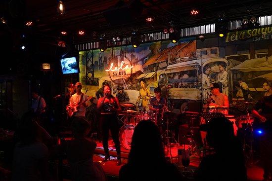 Rock music bar