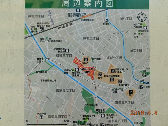 小田急・成城学園前~次大夫堀公園 案内図