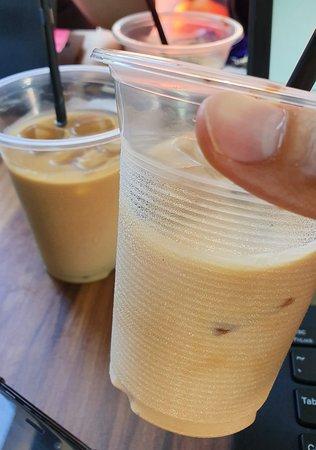 Iced latte or milk?